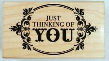 Hero Arts 2012 Just Thinking Of You G5563 Wooden Rubber Stamp
