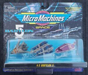 Micro Machines Space Babylon 5 Set #5 Alliance Shuttle Narn Cruiser Centauri