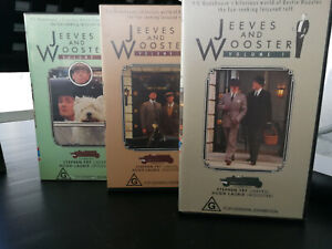 3 x Jeeves and Wooster VHS Vol 1 + 2 + 3 Stephen Fry Hugh Laurie Granada TV VGC
