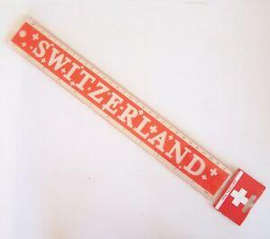 VINTAGE SWITZERLAND SWISS SOUVENIR 30cm 12-inch ILLUSTRATED RULER