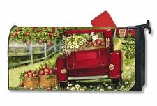 Magnet Works Red Truck Original Magnetic Mailbox Wrap Cover