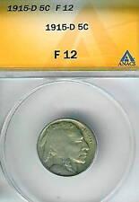 1915-D Buffalo Nickel : ANACS F12