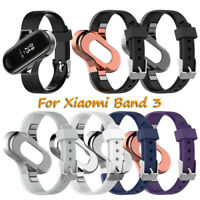 Watch Cover Silicone Watch Band Strap Stainless Steel Case For Xiaomi Mi Band 3