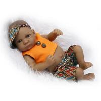"11"" Vinyl Silicone Reborn Black Girl Boy Twins Baby Doll likelife Newborn gifts"