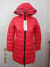 Women long Padded Coat Parka Down Jacket Hooded Dark Pink color Outwear Size S