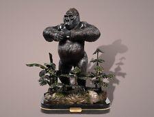 * Silverback Gorilla Bronze Sculpture King Kong Figurina Statue Limited Edition