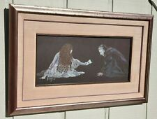 1990 PHANTOM OF THE OPERA FRAMED PASTEL DRAWING ARTWORK SIGNED BURNS