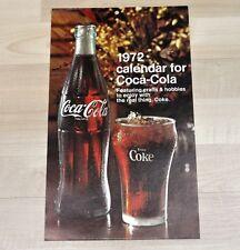 Bel vecchio Coca-Cola Calendario 1972 USA Coca Cola calendario