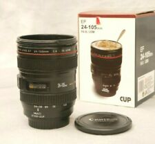 Authentic Canon Camera Lens Shaped EF 24 -105 mm Drink Thermos Coffee Cup Mug