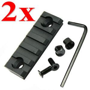 2 Stück 5 Slot Jagd Weaverschiene Schiene für Keymod Picatinny Montage leicht