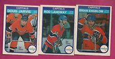 1982-83 OPC CANADIENS/CAPITALS LANGWAY + ENGBLOM + JARVIS TRADE (INV# A5654)