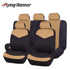 new car Seat Covers set Universal beige rear seat 40/60 50/50 split lady SUV