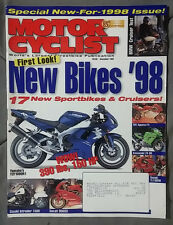 1997 DECEMBER MOTOR CYCLIST MOTORCYCLE MAGAZINE YZF R1 ZX-9R TL1000 DUCATI