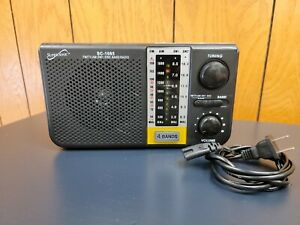 Supersonic SC-1085 5 Band AM/FM/SW/TV Radio Built-in USB Input & SD Card Slot