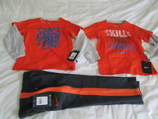 NEW 3Pc NIKE Boys School/Play OUTFIT Pants+2 Sewn on Sleeve Tops 4 FREE SHIP!