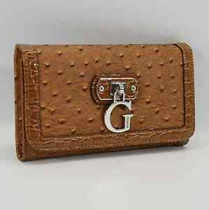 GUESS AUTHENTIC TAMORA SLG COGNAC CLUTCH WALLET NWT