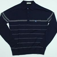 Vintage Montagut Wool Long Sleeve Polo Shirt Size 3 Made in France Men's