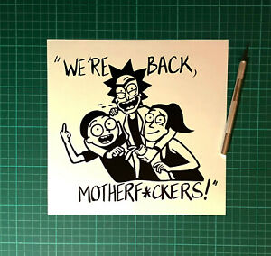 RICK AND MORTY ADULT SWIM STICKERS STICKY DECALS CAR VAN BUMPER LAPTOP