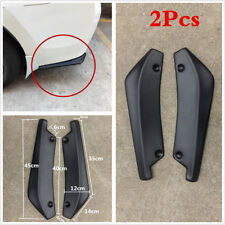Universal 2pcs Anti-Scratch Car Rear Bumper Lip Diffuser Splitter Canard Black