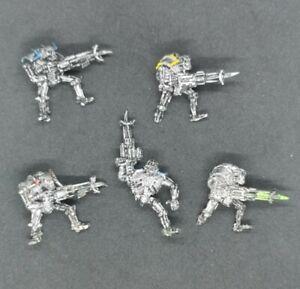 Necron Raiders X5 Metal OOP 1997 Warhammer 40k Warriors Damaged