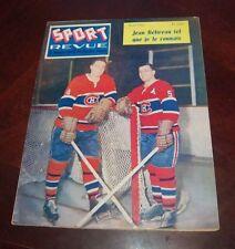 Sport Revue Hockey April 1961  Jean Beliveau / Bernie Geoffrion  cover   lot # 3