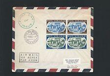 VATICANO FDC 1957 - ACCADEMIA PONTIFICIA - 2 COPPIE - indirizzo USA
