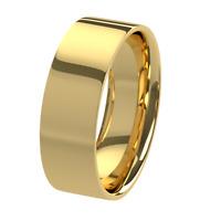 New 9ct 375 Yellow Gold Flat Court Unisex Wedding Ring Band Solid & UK Hallmark
