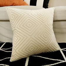 New Cream Velvet Diamond Home Decor Cushion Cover Pillow Case 55cm x 55cm