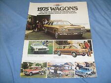 1975 chevy wagons dealer brochure 1973 chevy wagons original  literature /f4