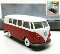 Majorette Volkswagen VW T1 Red White 1/59 243A no Package Free Display Box