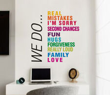 We Do House Rule Wall Sticker Home Quotes Inspirational Love MS329VC
