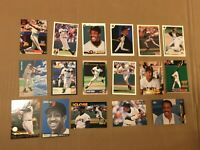 BARRY BONDS 17 CARD LOT STADIUM UPPER DECK LEAF STUDIO COLLECTOR CHOICE GIANTS