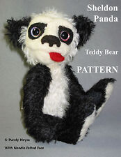 "Mohair/Needle Felted Panda Bear PATTERN ""Sheldon Panda"" by Neysa A. Phillippi"