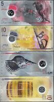 Maldives 2 Pcs SET, 5 10 Rufiyaa 2015 2017, UNC , POLYMER , P-New Design