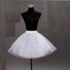 2014 Petticoat Rock'n Roll 50er Stil Pettycoat Rockabilly Unterkleid Weiss W04