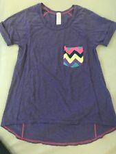 Girls IVIVVA by Lululemon short sleeve shirt size 10 Purple