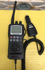 West Marine VHF85 Handheld Marine Radio w/DC Charger TESTED and WORKS GREAT!!