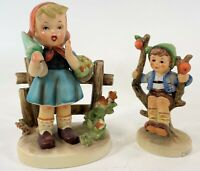 Vintage Pair Goebel Hummel Apple Tree Boy & Erick Steuffer Flower Girl Figurines