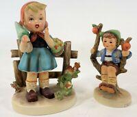 Vintage Pair Goebel Hummel Apple Tree Boy & Erick Steuffer Flower Girl Figurines
