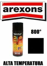 AREXONS SMALTO VERNICE SPRAY NERO OPACO ALTE TEMPERATURE 600° per MARMITTE
