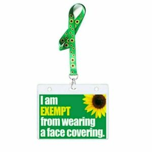 Sunflower Lanyard with Holder Identity Card & PVC Wallet - Hidden Disability