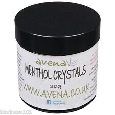 Powerful Natural Menthol Crystals For Cold and Flu Symptoms 30g Jar Aromatherapy