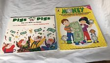 Teaching Money Pigs will be Pigs & Money CD7417 2 book lot Home School Classroom