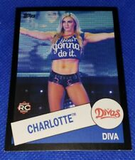 2015 Topps Heritage Charlotte Flair Rookie Card RC #104 black border