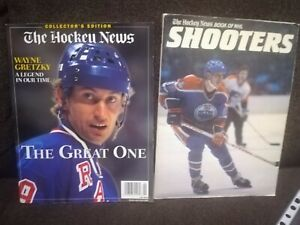 THE HOCKEY NEWS BOOK NHL SHOOTER+WAYNE GRETZKY COVER GREAT ONE COLLECTOR EDITION