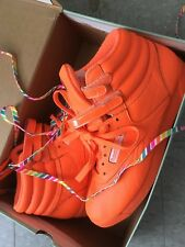 Women's Reebok Freestyle Classic 25th Anniversary Reign-bow Hi top Orange US 9