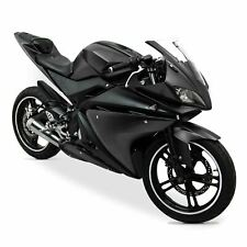 Yamaha YZF-R125 2008-2013 ABS Plastic Full Fairing Kit (20 panel) - Black/Black