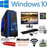 Fast Gaming PC Computer FULLSET Quad Core i7 8GB 1TB+128GB SSD Win10 2GB GT710