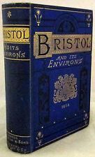 Bristol and Its Environs Historical Descriptive & Scientific 1st Ed HC 1875 RARE