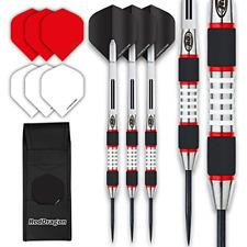 Red Dragon EVOS Steel Darts Set - 28 Gram - Winmau Rhino Black Flights, Shafts,